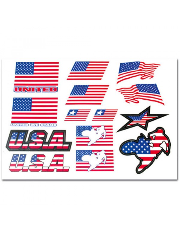 Planche stickers USA
