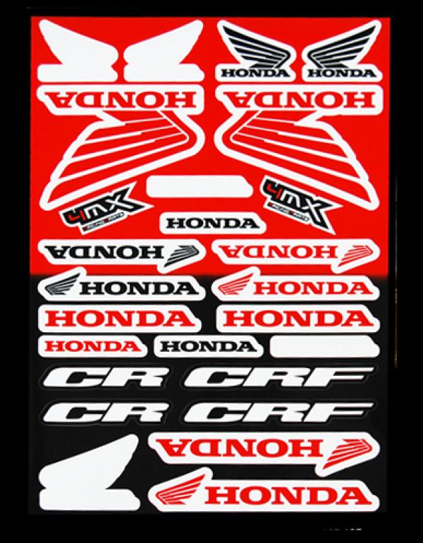 Planche de sickers Honda
