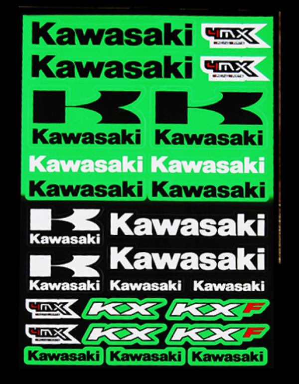 Planche de sickers Kawasaki