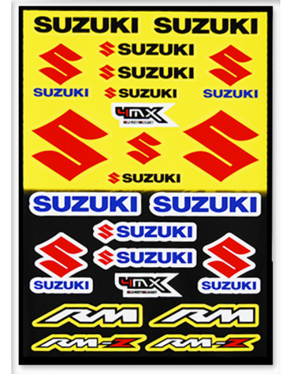 Planche de sickers Suzuki