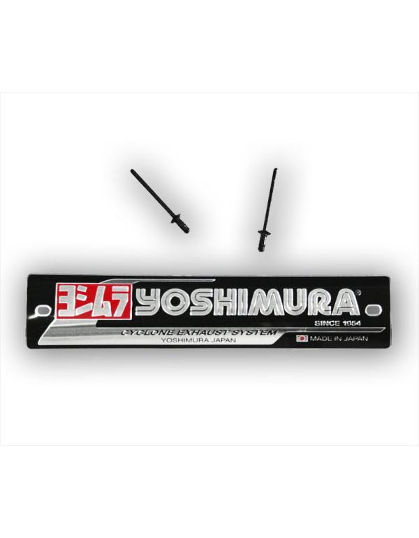 PLAQUE DE POT D'ECHAPPEMENT YOSHIMURA JAPAN ROND POUR TRI-OVALE
