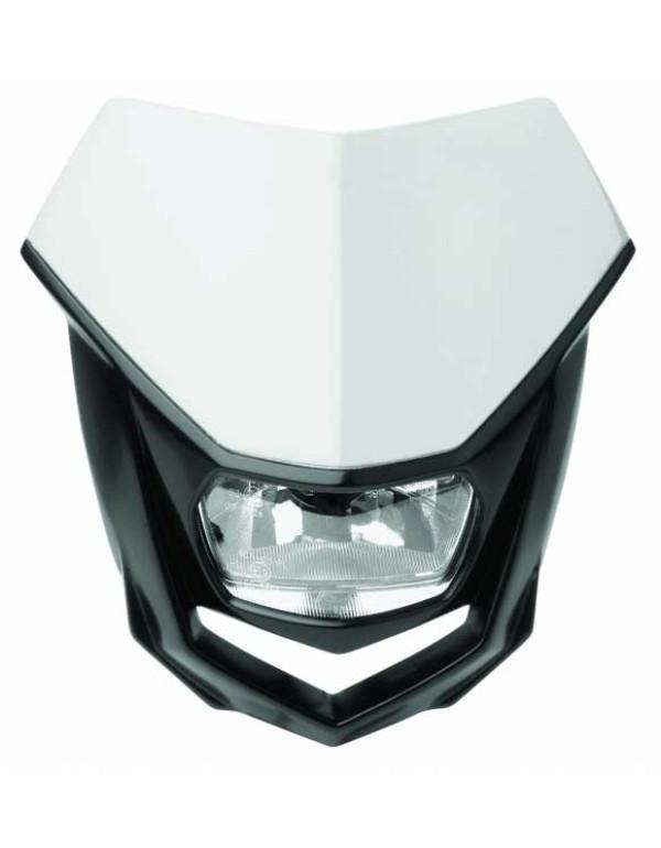 Plaque phare Polisport Halo-Blanc / Noir
