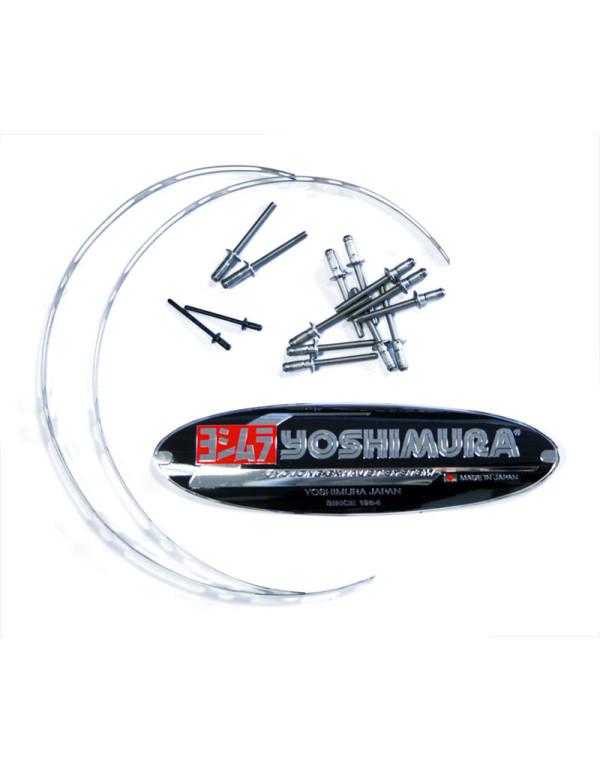 PLAQUE DE POT ECHAPPEMENT YOSHIMURA JAPAN TRI-OVALE