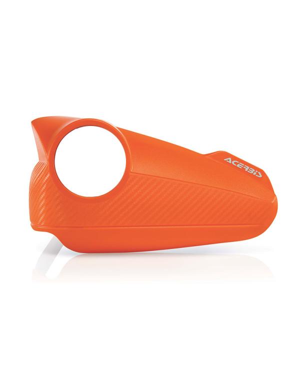 Plastiques de rechange orange pour protèges mains Acerbis Vision