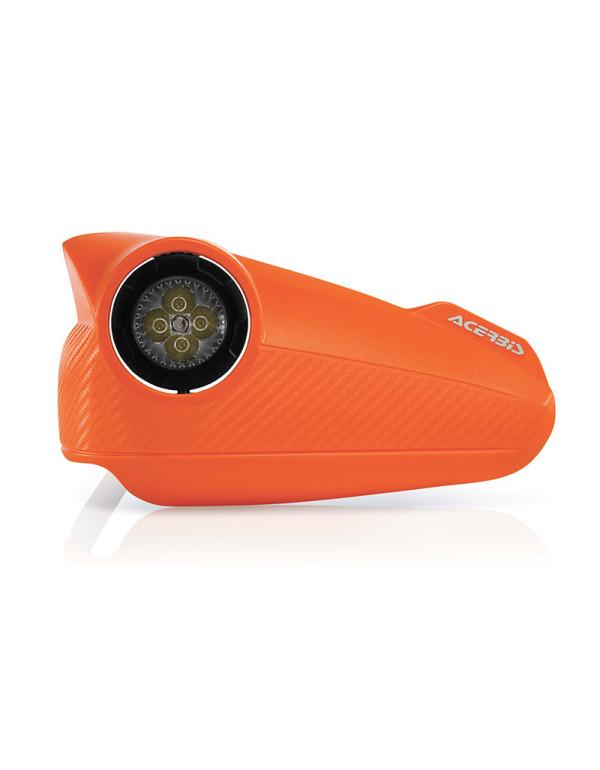 Protèges mains oranges Vision à leds Acerbis pour votre moto