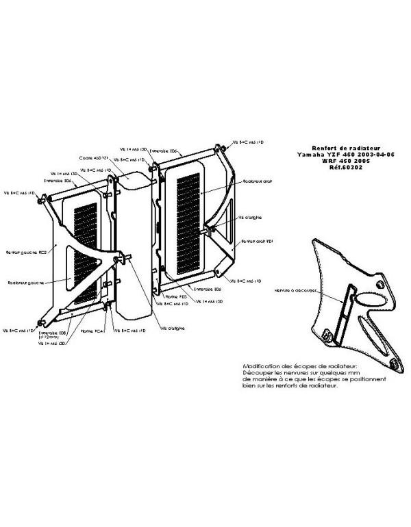 Protections de radiateurs Pour YAMAHA WR450F 2005-2006