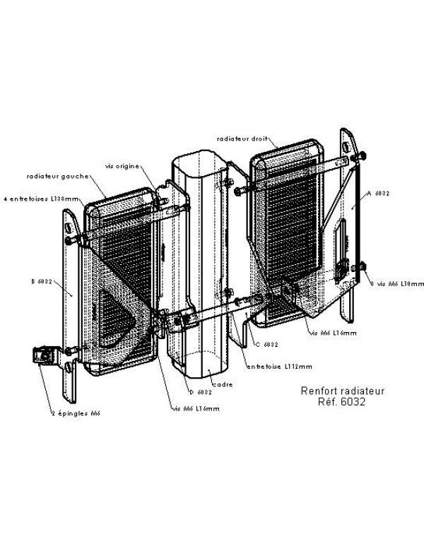 Protections de radiateurs Pour YAMAHA YZ250F 2006