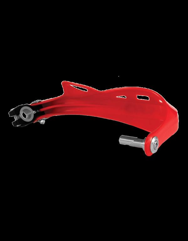 Protège-mains Rally Profile avec les fixations (la paire) - ROUGE