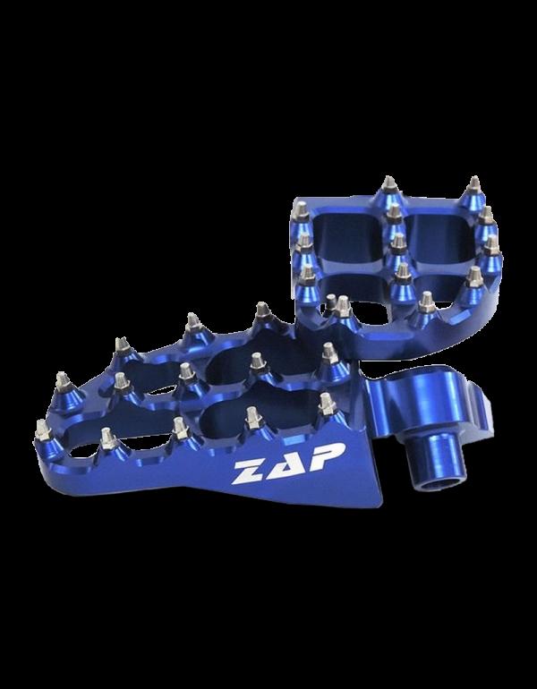 Repose pieds ZAP pour Gasgas en alu anodisé - bleu