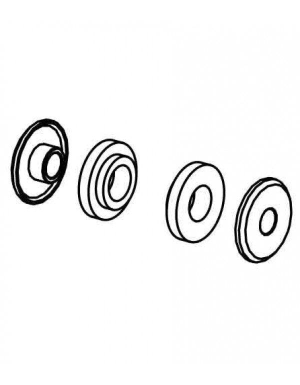 rondelles de collier de pot Akrapovic