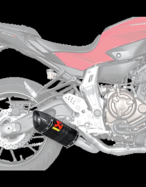 Silencieux Akrapovic de rechange pour Yamaha MT07 2014-2018