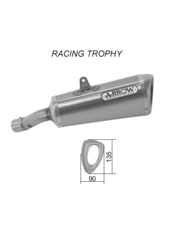 Silencieux pour HONDA CB 600 F HORNET 07-11 - RACING TROPHY - Enveloppe Titane