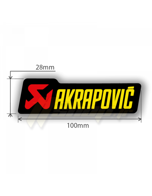 Sticker Akrapovic P-HST12AL