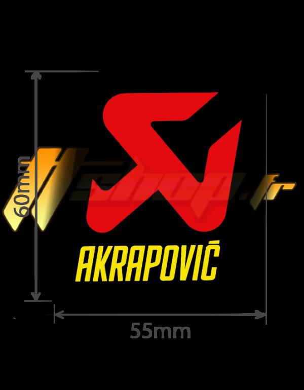 Sticker Akrapovic P-HST13AL
