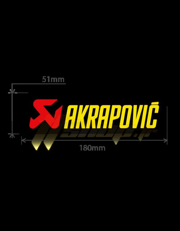 Sticker Akrapovic P-HST1AL