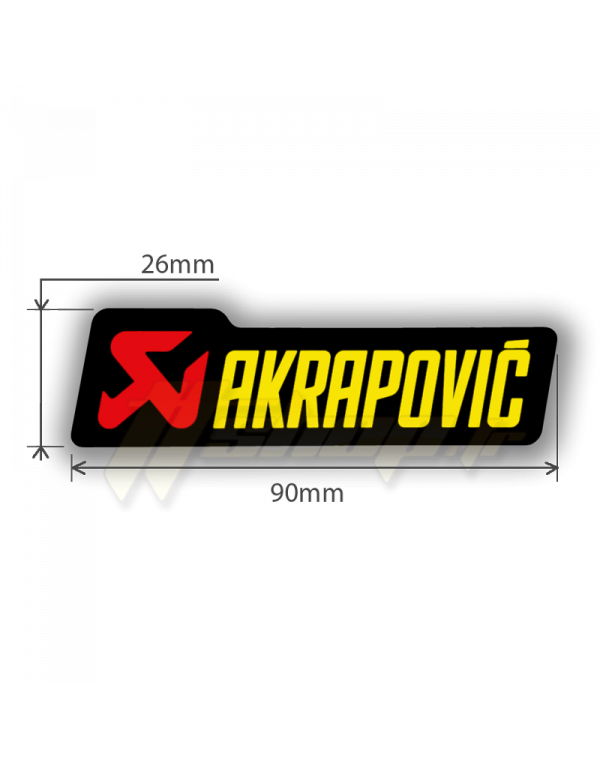 Sticker Akrapovic P-HST3PO