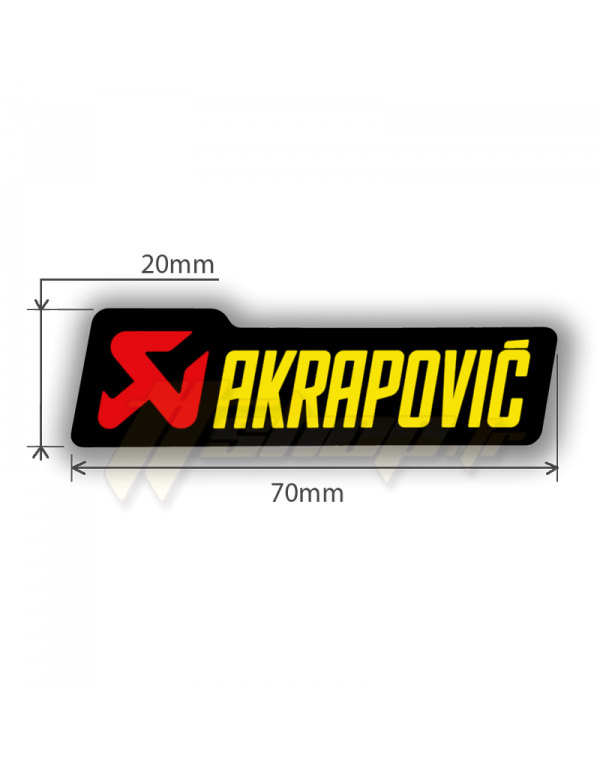 Sticker Akrapovic P-HST4PO