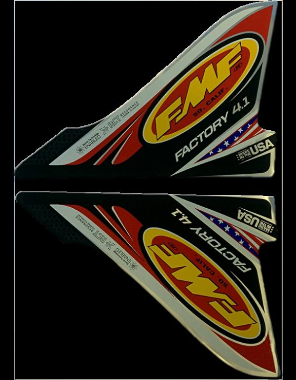 Stickers de remplacement pour pot FMF Factory 4.1 USA