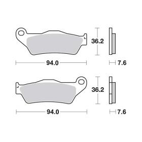 2 plaquettes de frein avant SBS 671SI pour SHERCO SE 2,5 i 250cc 2012 et +