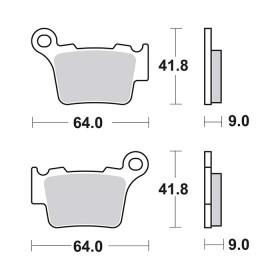 2 plaquettes de frein arrière SBS 791SI pour SHERCO SE 2,5 i 250cc 2012 et +