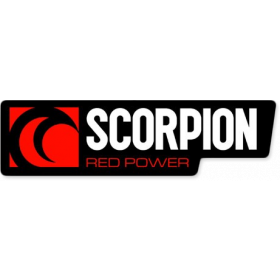 Autocollant Scorpion Red Power format paysage
