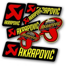 Autocollants / stickers AKRAPOVIC 100% d'origine