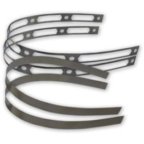 Kit de 2 bandes en titane + rivets