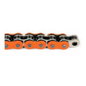 Chaine moto 520 super renforcée120 maillons AFAM - couleur Orange