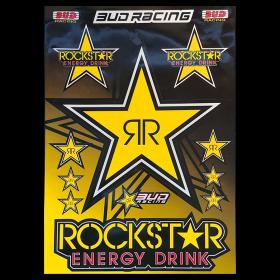 Planche de stickers Rockstar (Avec la grosse étoile)