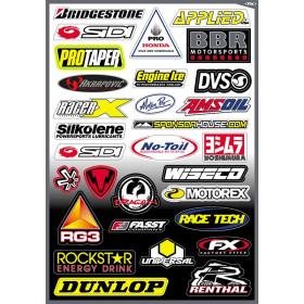 Planche stickers différents sponsors