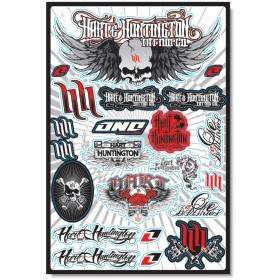 Planche de stickers Tête de mort Hart&Huntington