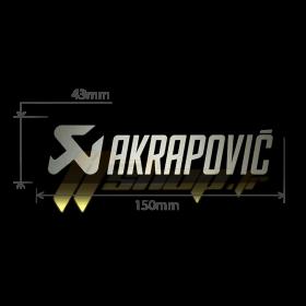 Autocollant Sticker Akrapovic 150mmx43mm résistant à la chaleur - noir et aluminium - P-HST18ALXM4
