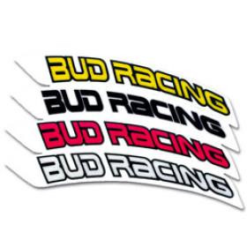 Stickers de garde-boue avant BUD RACING