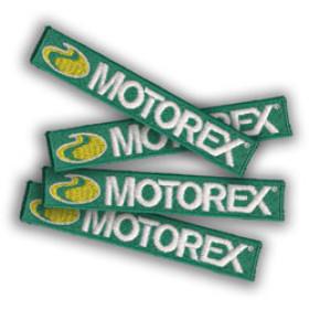 Badge Motorex à coudre 9cm x 1.5cm
