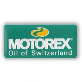 Badge Motorex en plastique souple