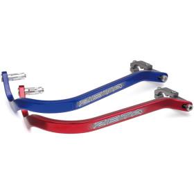 Barres de protège-mains rouge et bleu