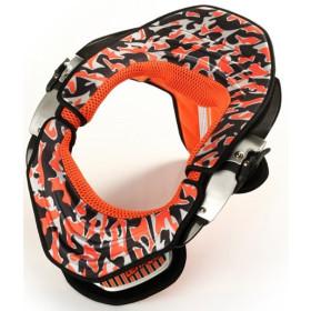 Kit déco Orange Camo avec mousses pour leatt brace 1ère génération
