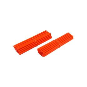 Couvre-rayons de moto oranges