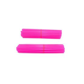 Couvre-rayons de moto rose fluorescent