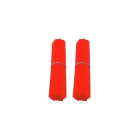 Couvre-rayons de moto rouge fluorescent