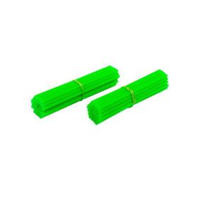 Couvre-rayons de moto vert fluorescent
