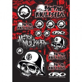 Planche de stickers Metal Mulisha