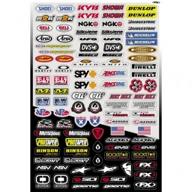 Planche de stickers divers Factory effex