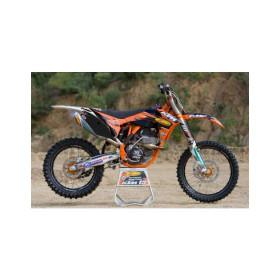 Kit déco team FMF pour KTM SX-F 250/350/450 2011 fonds de plaques noirs