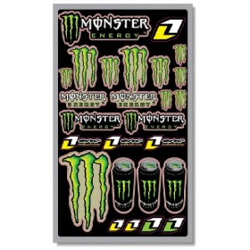 planche de stickers monster energy