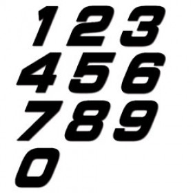 Numéros de plaques moto NGX 20cm