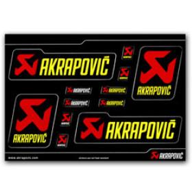 Planche de stickers Akrapovic