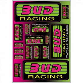 planche de stickers bud racing format A4
