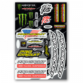 Planche de stickers Pro Cricuit Monster Energy