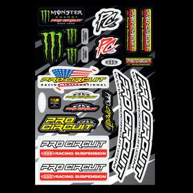Planche de stickers Pro Cricuit Monster Energy